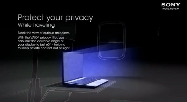 Sony VAIO Privacy Filter